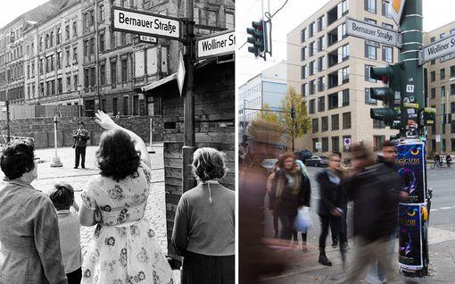 Kylmän sodan julma monumentti murrettiin 30 vuotta sitten - katso pysäyttävät kuvat Berliinistä ennen muuria ja sen jälkeen