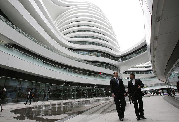 Toimistokompleksi Pekingissä Kiinassa.