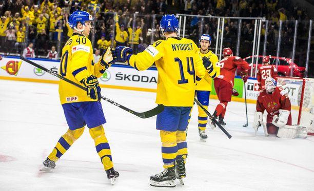Ruotsin MM-avaus päättyi murskavoittoon.