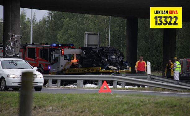 Ketjukolari aiheutti pahaa jälkeä Tampereella.