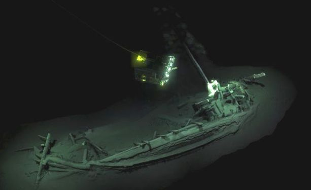 Laiva löytyi robottikameroiden avulla.