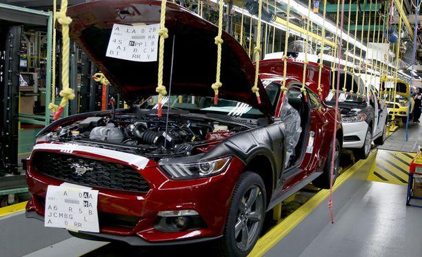 Ford Mustangin nykyaikainen kokoonpanolinjasto.