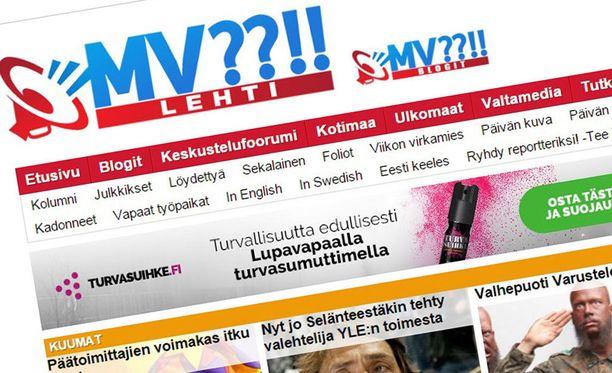 MV-sivuston epäillään syyllistyneen useisiin rikoksiin.