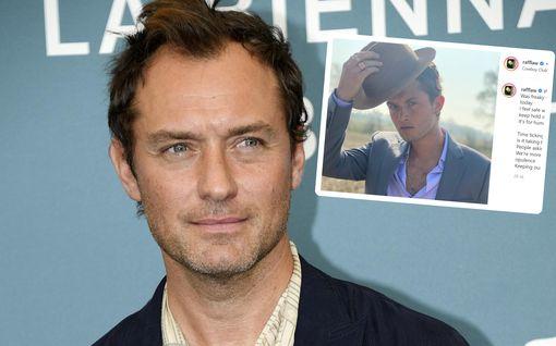 Jude Law ja vanhin poika – kuin samasta puusta veistettyjä, vertaa kuvia