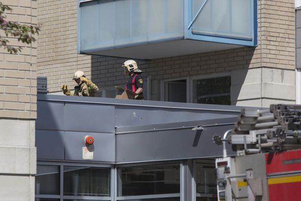 Pelastuslaitos kutsuttiin hätiin, kun lokinpoikanen havaittiin hoivakodin katolla.
