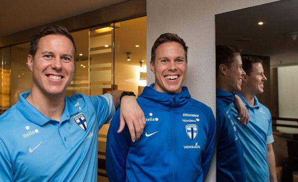 Henrik ja Niklas Moisander ovat molemmat urallaan pukeneet Suomen maajoukkuepaidan ylleen.
