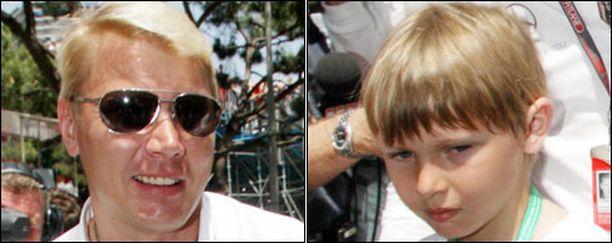 Mika Häkkisen Hugo-poika on isänsä tavoin innokas rattimies.
