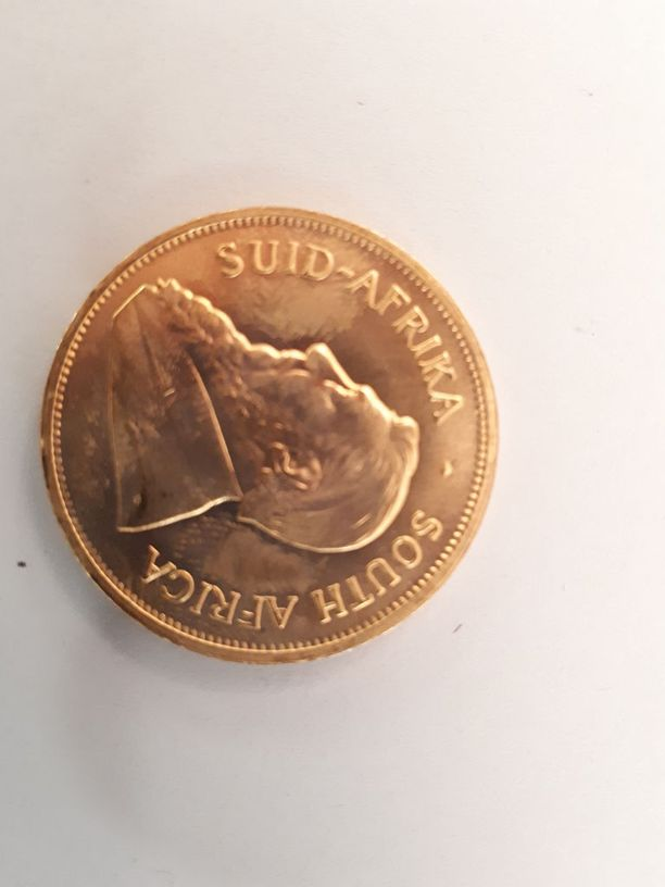 Kultaisia Krugerrand-kolikoita löytyi yhteensä 32 kappaletta. Ne painoivat 995 grammaa.