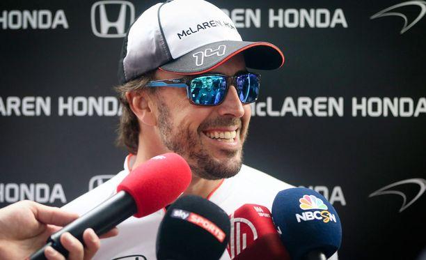 Fernando Alonso nähtäneen kilpailussa sunnuntaina.