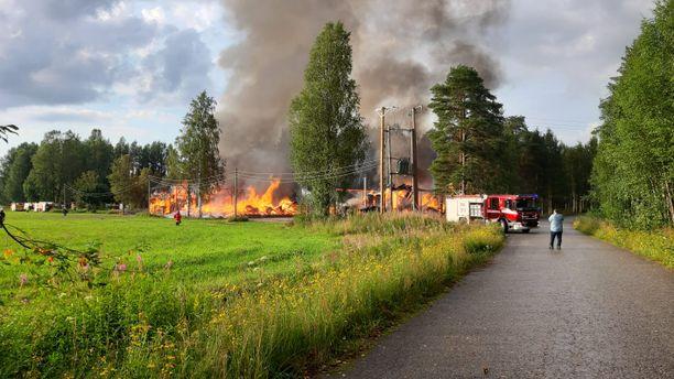 Palon seurauksena ei tullut henkilövahinkoja.