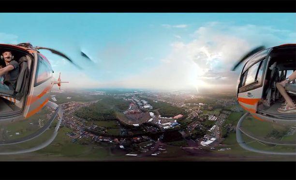Helikopterista kuvattu 360-video.