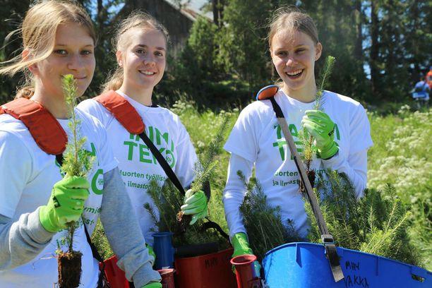 4H-järjestön nuoret tekevät ilmastotekoja ja työllistävät itsensä Taimiteko-hankkeessa.
