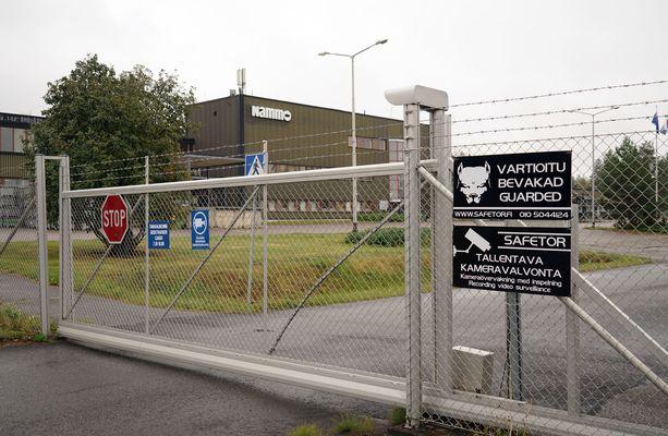 Nammo Lapuan tehtaan portti.