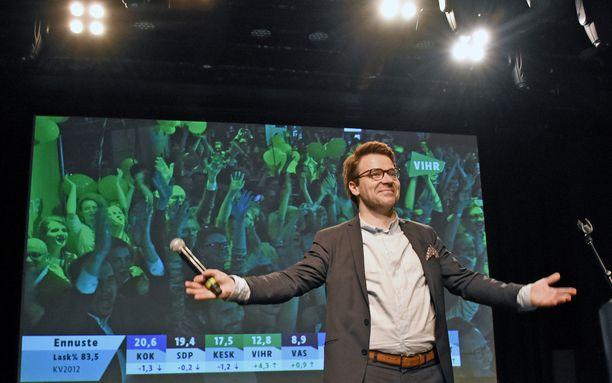 Vihreiden puheenjohtaja Ville Niinistö on saanut nauttia myötäisistä kannatustuulista.