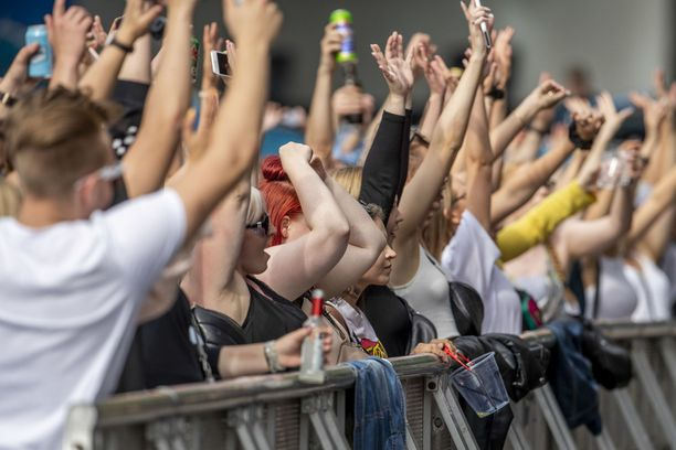 Elokuussa on järjestetty useita festivaaleja. Kuva Turun Aura Festeiltä.