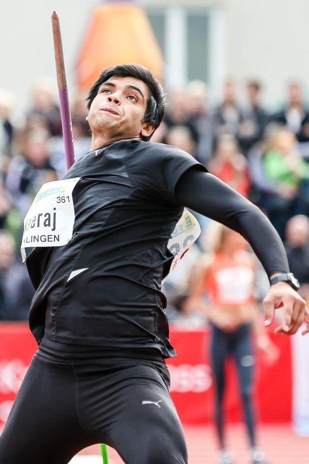 Intian Neeraj Chopra on nakannut tällä kaudella 85,63.