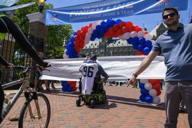 Janne Kouri saapui Georgetownin yliopistolle ajettuaan Yhdysvaltojen halki yli 4600 kilometriä.