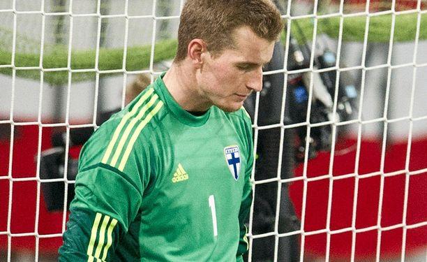 Lukas Hradecky joutui pettymään Kööpenhaminan derbyssä.