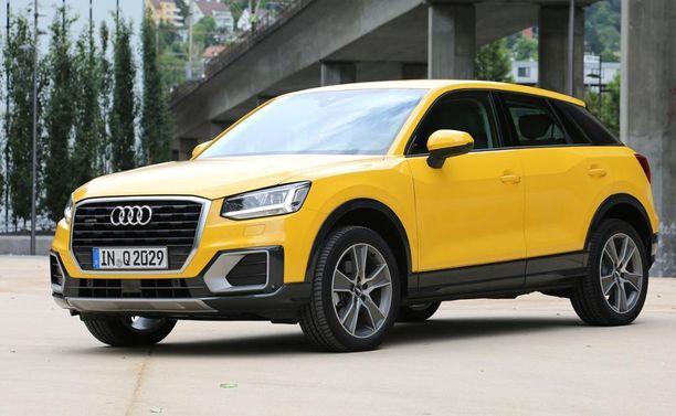 14. Audi Q2 sijoittuu samaan kokoluokkaan VW Tiguanin kanssa.