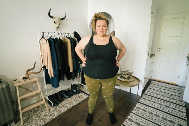 Tältä Veera Bianca näytti Olet mitä syöt -ohjelmassa, kun elämäntaparemontti oli vasta alkamassa.