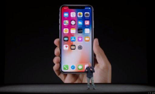 Iphone X näyttää tältä.