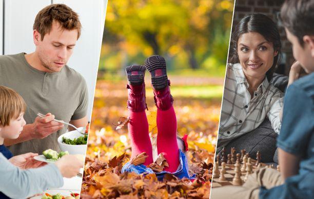 Yhdessä kokkaaminen, ulkoilu ja lautapelit ovat monen lomaa viettävän lapsen mieleen.
