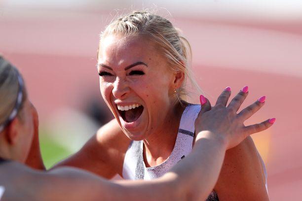 Annimari Korte kellotti kovan ajan Ruotsi-maaottelussa.