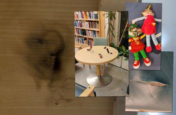 Töihin tullutta siivoojaa odotti maanantaina hävitys Iitin kirjastossa.