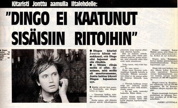 Dingon hajoaminen oli vuoden 1986 suurimpia uutisaiheita Suomessa.