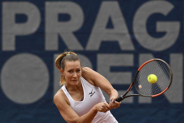 Jana Sizikova pelasi Ranskan avointen nelinpelin ottelussa, joka on nyt tutkimuksen kohteena. Kuva vuodelta 2019.