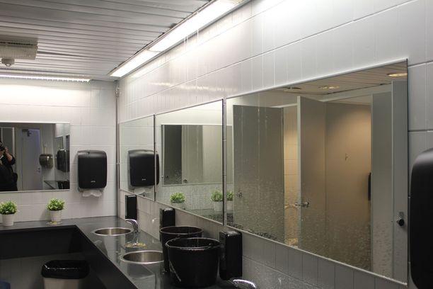 Vettä valui myös WC-tiloihin.