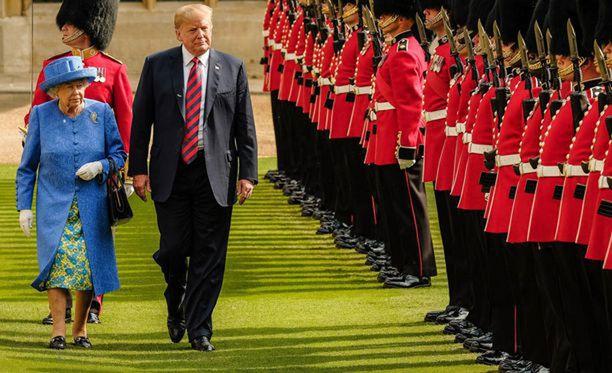 Kuningattaren ja Trumpin näkeminen pidettiin hyvin lyhyenä.