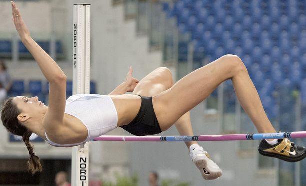 Marija Lasitskene otti naisten korkeushypyssä 40. perättäisen voittonsa Rooman Timanttiliigassa.