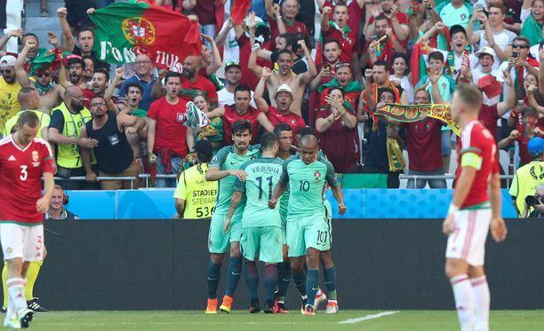 Portugali ja Unkari mättivät yhteensä kuusi maalia.