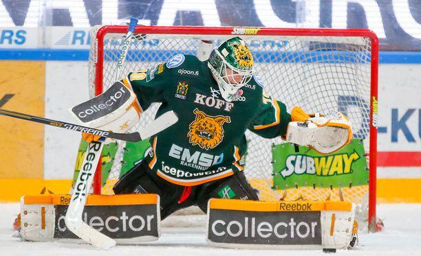 Joonas Korpisalo torjui viime kaudella Ilveksen maalilla.