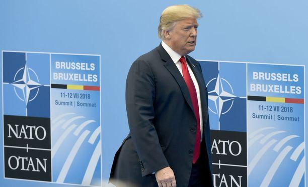 Presidentti Trump ei ole peitellyt tänään alkaneessa Nato-huippukokouksessa tyytymättömyyttään.