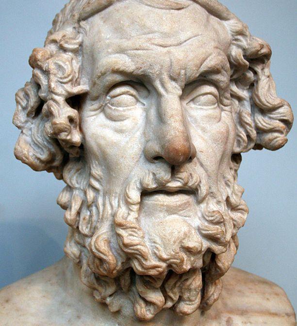 Roomalainen patsas Homeroksesta toiselta vuosisadalta ajanlaskun jälkeen.
