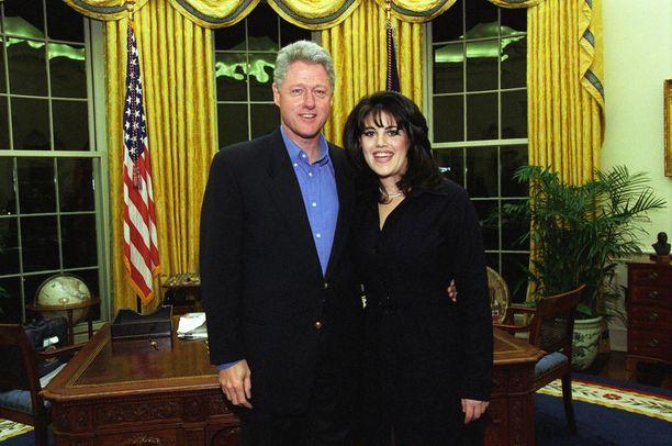Monica Lewinsky työskenteli Bill Clintonin Valkoisessa talossa vuosina 1995–1996. Kuva helmikuulta 1997.