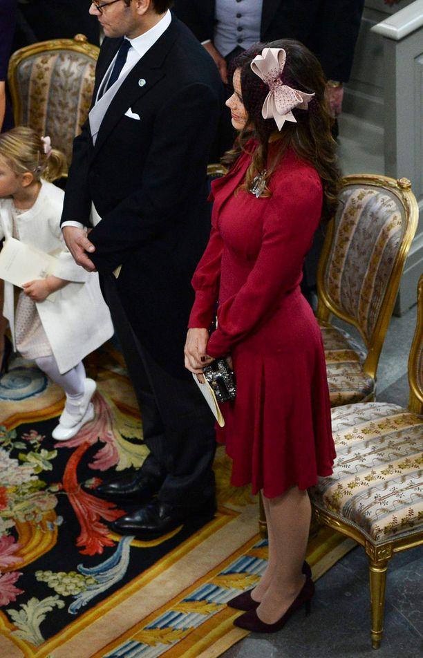 Sofia edusti sunnuntaina Guccin leningissä. Vauvavatsaa prinsessalla ei vielä näy.