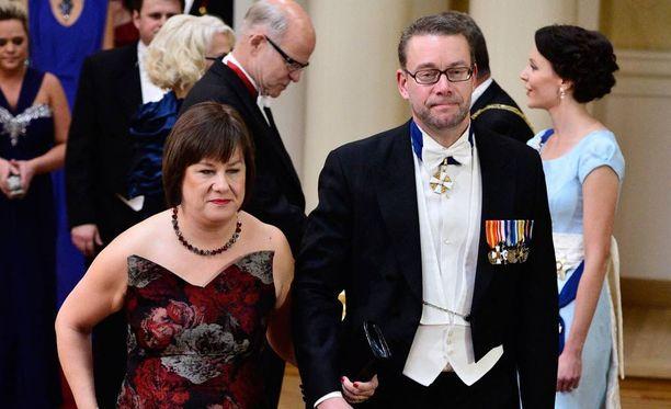 Elina Pirjatanniemi ja Stefan Wallin Linnan juhlissa vuonna 2014.
