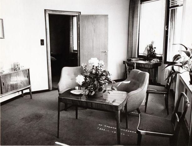 Vaakunan hotellihuone 1950-luvulla.