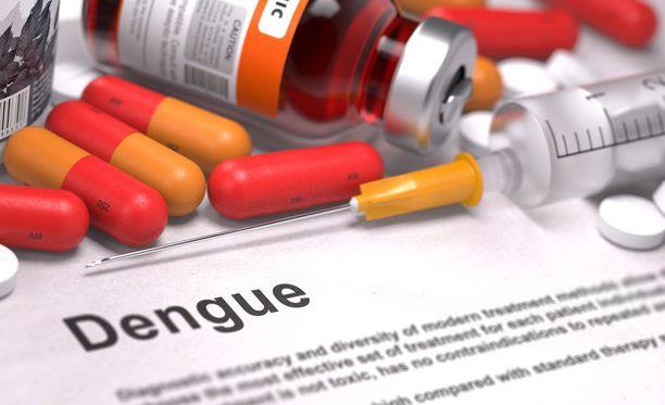 Denguevirusinfektio vaihtelee oireiltaan lievästä, ihottumaisesta kuumetaudista henkeä uhkaaviin tautimuotoihin, joihin voi kuulua myös verenvuoto-oireita.