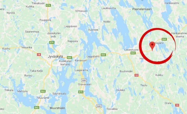 Palo syttyi Peräläntiellä Hankasalmella.