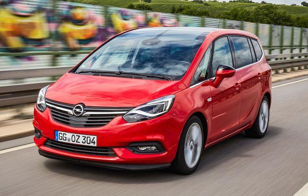 33. Opel Zafiran saa myös kaasu/bensa-versiona.
