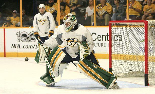Atte Tolvanen osallistui kesällä 2017 Nashville Predatorsin NHL-leirille.