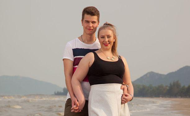 Niklas ja Pauliina poistuivat saarelta ystävinä.