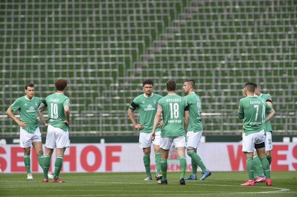 Werder Bremen ottaa tänään mittaa Frankfurtista.