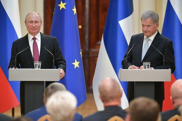 Putin ja Niinistö kommentoivat peliä ytimekkäästi.