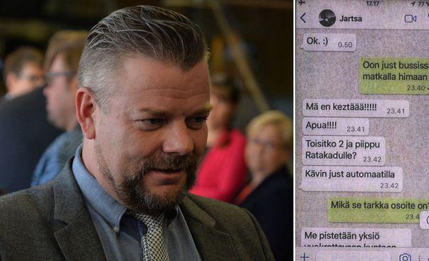 Jari Sillanpää kävi epätoivoisia keskusteluja huumeita myyneen miehen kanssa tekstiviestein ja WhatsApp-sovelluksessa.