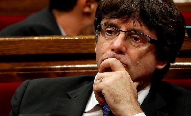 Carles Puigdemontia voi odottaa vuosikymmenten vankeustuomio.